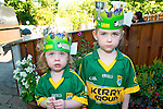 Serious Kerry Fans : Isabelle & Lucy Kate McEnery enjoying the Kerry game at McCarthy's Bar, Finuge on Sunday.