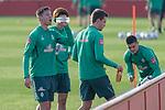 10.01.2020, Sportzentrum RCD Mallorca, Son Bibiloni, ESP, TL Werder Bremen -  Training Tag 07<br /> <br /> im Bild / picture shows <br /> <br /> Trinkpause<br /> Marco Friedl (Werder Bremen #32)<br /> <br /> Foto © nordphoto / Kokenge