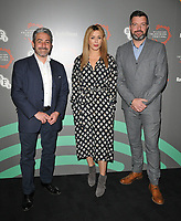 Matthew Hall, Eve Myles and Bradley Freegard at the &quot;Keeping Faith&quot; BFI &amp; Radio Times Television Festival screening, BFI Southbank, Belvedere Road, London, England, UK, on Sunday 14th April 2019.<br /> CAP/CAN<br /> &copy;CAN/Capital Pictures