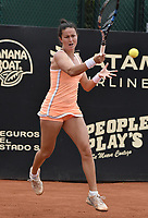 BOGOTA -COLOMBIA. 14-04-2017. Lara Arruabarrena (ESP) durante juego contra Sara Sorribes Tormo (ESP) de semifinal de final del Claro Open Colsanitas WTA 2017 jugado en el Club Los Lagartos en Bogota. /  Lara Arruabarrena (ESP) during match against Sara Sorribes Tormo (ESP) for the semifinal of Claro Open Colsanitas WTA 2017 played at Club Los Lagartos in Bogota city. Photo: VizzorImage/ Gabriel Aponte / Staff