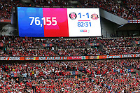 The attendance for the Division One Play-Off Final is 76,155 during Charlton Athletic vs Sunderland AFC, Sky Bet EFL League 1 Play-Off Final Football at Wembley Stadium on 26th May 2019