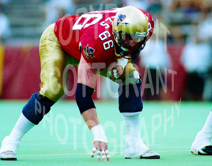 Jim Mills Ottawa Rough Riders 1994. Photo F. Scott Grant