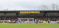 Blackpool Football Club's Fans fill one end<br /> <br /> Photographer Mick Walker/CameraSport<br /> <br /> The EFL Sky Bet Championship - Burton Albion v Bolton Wanderers - Saturday 28th April 2018 - Pirelli Stadium - Burton upon Trent<br /> <br /> World Copyright &copy; 2018 CameraSport. All rights reserved. 43 Linden Ave. Countesthorpe. Leicester. England. LE8 5PG - Tel: +44 (0) 116 277 4147 - admin@camerasport.com - www.camerasport.com
