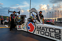 Jun 16, 2017; Bristol, TN, USA; Crew members for NHRA top fuel driver Antron Brown during qualifying for the Thunder Valley Nationals at Bristol Dragway. Mandatory Credit: Mark J. Rebilas-USA TODAY Sports