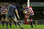 Matiaha Martin makes a run at Sam Whitelock. The game of Three Halves, a pre-season warm-up game between the Counties Manukau Steelers, Northland and the All Blacks, played at ECOLight Stadium, Pukekohe, on Friday August 12th 2016. Photo by Richard Spranger.