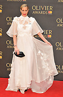 Laura Pradelska at the Olivier Awards 2018, Royal Albert Hall, Kensington Gore, London, England, UK, on Sunday 08 April 2018.<br /> CAP/CAN<br /> &copy;CAN/Capital Pictures<br /> CAP/CAN<br /> &copy;CAN/Capital Pictures