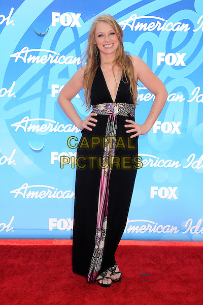 Didi Benami.American Idol 2013 Finale - Arrivals held at the Nokia Theatre LA Live, Los Angeles, California, USA..May 16th, 2013.full length black  dress hands on hips .CAP/ADM/BP.©Byron Purvis/AdMedia/Capital Pictures