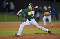 Siena Saints pitcher Chris Amorosi (24) delivers a pitch during the opening game of the season against the UCF Knights on February 13, 2015 at Jay Bergman Field in Orlando, Florida.  UCF defeated Siena 4-1.  (Mike Janes/Four Seam Images)