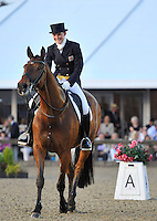16.05.2014.  Windsor Horse Show London Lara Griffith (GBR) riding Andretti H during the CD13* FEI Grand Prix Freestyle to music