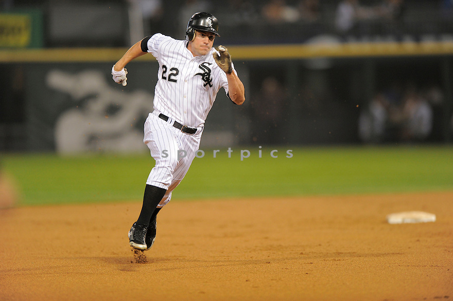 SCOTT PODSEDNIK, of the Chicago White Sox, in action during the White Sox game against the Oakland As on September 9, 2009 in Chicago, IL. The White Sox beat the As 4-3 ...