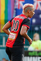 Rochester, NY - Friday July 01, 2016: Western New York Flash midfielder Lianne Sanderson (10) during a regular season National Women's Soccer League (NWSL) match between the Western New York Flash and the Chicago Red Stars at Rochester Rhinos Stadium.