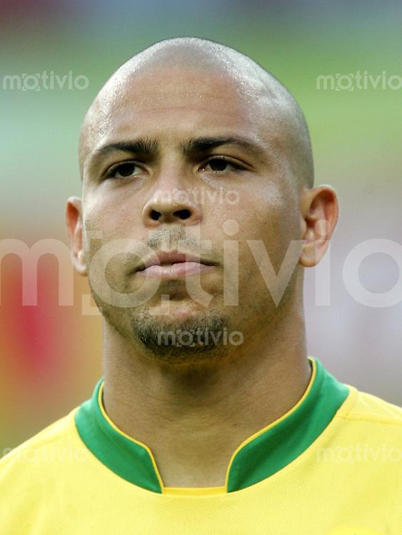 Fussball WM 2006 Gruppenspiel Gruppe F Vorrunde in Berlin. Brasilien - Kroatien, Brasil - Croatia Ronaldo (BRA).