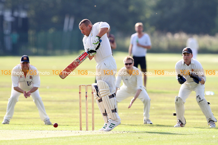 S Tremeck in batting action for Harold Wood - Hutton CC 4th XI vs Harold Wood CC 4th XI - Essex Cricket League - 03/09/11 - MANDATORY CREDIT: Gavin Ellis/TGSPHOTO - Self billing applies where appropriate - 0845 094 6026 - contact@tgsphoto.co.uk - NO UNPAID USE.