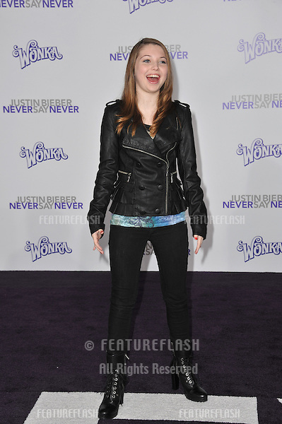 "Sammi Hanratty at the Los Angeles premiere of ""Justin Bieber: Never Say Never"" at the Nokia Theatre LA Live..February 8, 2011  Los Angeles, CA.Picture: Paul Smith / Featureflash"