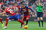 30.01.2016 Camp Nou, Barcelona, Spain. La Liga day 22 match between FC Barcelona and Atletico de Madrid. Neymar scape from Gimenez
