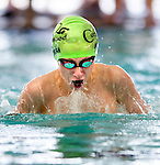 Cottonwood's Connor Morgan competes in the 100 yard IM race during the 53rd annual Country Club Swimming Championships on Tuesday, Aug. 7, 2012, in Kearns, Utah. (© 2012 Douglas C. Pizac)