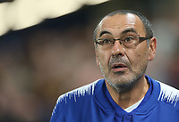 Chelsea manager Maurizio Sarri <br /> <br /> Photographer Rob Newell/CameraSport<br /> <br /> UEFA Europa League - Group L - Chelsea v MOL Vidi - Thursday 4th October 2018 - Stamford Bridge - London<br />  <br /> World Copyright © 2018 CameraSport. All rights reserved. 43 Linden Ave. Countesthorpe. Leicester. England. LE8 5PG - Tel: +44 (0) 116 277 4147 - admin@camerasport.com - www.camerasport.com