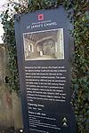 English Heritage  information notice board  for Saint James's chapel, Lindsey, Suffolk, England, UK