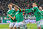 08.03.2019, Weser Stadion, Bremen, GER, 1.FBL, Werder Bremen vs FC Schalke 04, <br /> <br /> DFL REGULATIONS PROHIBIT ANY USE OF PHOTOGRAPHS AS IMAGE SEQUENCES AND/OR QUASI-VIDEO.<br /> <br />  im Bild<br /> <br /> Max Kruse (Werder Bremen #10) elfmeter jubel Maximilian Eggestein (Werder Bremen #35)<br /> Milot Rashica (Werder Bremen #11)<br /> <br /> Foto &copy; nordphoto / Kokenge