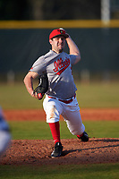 Illinois State Redbirds relief pitcher Jack Czeszewski (25) delivers a pitch during a game against the Ohio State Buckeyes on March 5, 2016 at North Charlotte Regional Park in Port Charlotte, Florida.  Illinois State defeated Ohio State 5-4.  (Mike Janes/Four Seam Images)