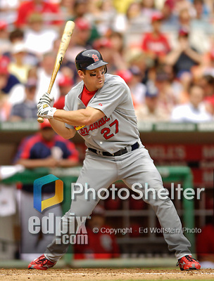 4 September 2006: Scott Rolen, third baseman for the St. Louis Cardinals, in action against the Washington Nationals. The Nationals defeated the Cardinals 4-1 at Robert F. Kennedy Memorial Stadium in Washington, DC. ..Mandatory Photo Credit: Ed Wolfstein..