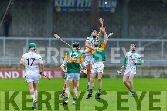 Action from Kerry v Offaly in Div 2 of the National Hurling League in Austin Stack Park on Sunday.