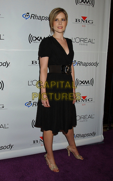 DIDO.2006 Clive Davis Pre-GRAMMY Party sponsored by L'Oreal, Rhapsody, and XM Satellite Radio held at the Beverly Hilton Hotel, Beverly Hills, California, USA..February 6th, 2006.Photo: Laura Farr/AdMedia/Capital Pictures.Ref: LF/ADM.full length black dress belt.www.capitalpictures.com.sales@capitalpictures.com.© Capital Pictures.