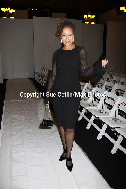 As The World Turns Tamara Tunie attends B Michael America Couture Collection - Fall/Winter collection (Fashion Show) on February 15, 2011 at the Plaza Hotel, New York City, New York. (Photo by Sue Coflin/Max Photos)