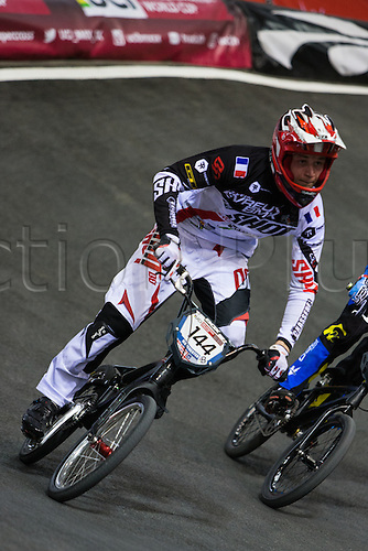 09.04.2016. National Cycling Centre, Manchester, England. UCI BMX Supercross World Cup Day 1. Charly Omont.
