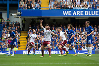 Burnley's Robbie Brady (centre) celebrates the opening goal <br /> <br /> Photographer Craig Mercer/CameraSport<br /> <br /> The Premier League - Chelsea v Burnley - Saturday August 12th 2017 - Stamford Bridge - London<br /> <br /> World Copyright &copy; 2017 CameraSport. All rights reserved. 43 Linden Ave. Countesthorpe. Leicester. England. LE8 5PG - Tel: +44 (0) 116 277 4147 - admin@camerasport.com - www.camerasport.com