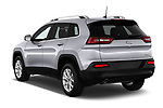 Car pictures of rear three quarter view of a 2018 Jeep Cherokee Latitude 5 Door SUV angular rear