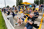 Not everyone in the outdoor bar area is fully focused on the game. Yorkshire v Parishes of Jersey, CONIFA Heritage Cup, Ingfield Stadium, Ossett. Yorkshire's first competitive game. The Yorkshire International Football Association was formed in 2017 and accepted by CONIFA in 2018. Their first competative fixture saw them host Parishes of Jersey in the Heritage Cup at Ingfield stadium in Ossett. Yorkshire won 1-0 with a 93 minute goal in front of 521 people.
