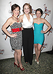 Caitlyn Caughell,Julie Foldesi, Laurie Veldheer.attending the 'NEWSIES' Opening Night after Party at the Nederlander Theatre in New York on 3/29/2012