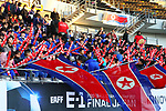 North Korea fans (PRK), <br /> DECEMBER 11, 2017 - Football / Soccer : <br /> EAFF E-1 Football Championship 2017 Women's Final match <br /> between North Korea 1-0 South Korea <br /> at Fukuda Denshi Arena in Chiba, Japan. <br /> (Photo by Naoki Nishimura/AFLO)