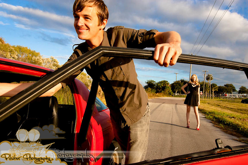 The engagement shoot of Kevan Logan and Jason Kirby on Friday, November 12, 2010, on a back road in Sanford, Florida. Their wedding is October 28, 2011. (Chad Pilster, PilsterPhotography.net)