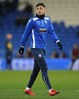 Bolton Wanderers' Tyler Walker during the pre-match warm-up <br /> <br /> Photographer Kevin Barnes/CameraSport<br /> <br /> The EFL Sky Bet Championship - Cardiff City v Bolton Wanderers - Tuesday 13th February 2018 - Cardiff City Stadium - Cardiff<br /> <br /> World Copyright &copy; 2018 CameraSport. All rights reserved. 43 Linden Ave. Countesthorpe. Leicester. England. LE8 5PG - Tel: +44 (0) 116 277 4147 - admin@camerasport.com - www.camerasport.com