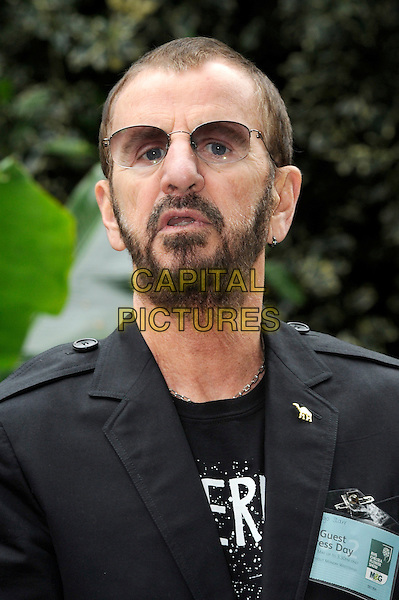 Ringo Starr.The Chelsea Flower Show 2012, London, England..May 21st, 2012.headshot portrait black beard facial hair sunglasses shades mouth open.CAP/CJ.©Chris Joseph/Capital Pictures.