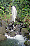 Trafalgar falls and its refreshing pools on the island of Dominica lie just a few miles into the hills from the town Roseau.