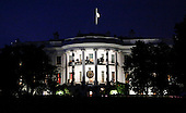 Halloween decorations are seen on the South Portico of the White House in Washington DC, October 29, 20016. <br /> Credit: Aude Guerrucci / Pool via CNP
