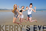 Enjoying the summer heatwave at Banna beach on Tuesday were l-r: Klaudia Griciute, Shannon O'Donoghue and Rebecca Stack (all, Tralee).