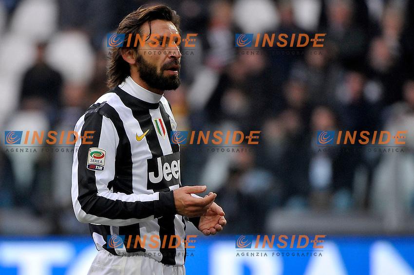 Andrea Pirlo Juventus.Calcio Juventus vs Sampdoria.Serie A - Torino 06/1/2013 Juventus Stadium .Football Calcio 2012/2013.Foto Federico Tardito Insidefoto.