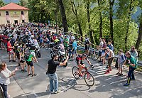 race leader Dylan Theuns (BEL/BMC) up the Foza climb (1086m)<br /> <br /> Stage 20: Pordenone › Asiago (190km)<br /> 100th Giro d'Italia 2017