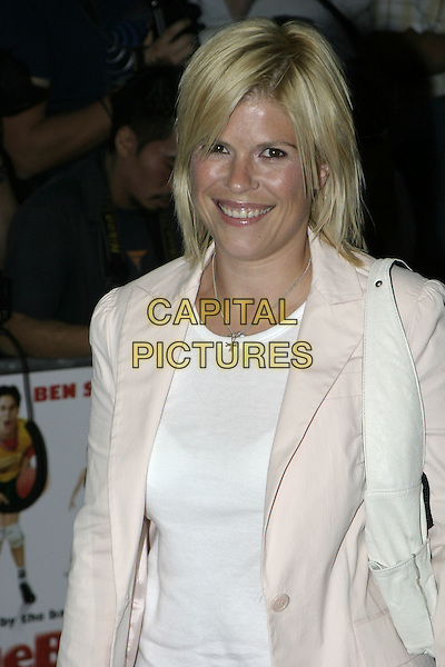 "EMMA B.""DodgeBall"" film premiere.Odeon Kensington .London 17 August 2004..half length.www.capitalpictures.com.sales@capitalpictures.com.©Capital Pictures"