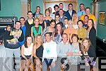 "7420-7423.---------.Bon Voyage.----------.On his 28th birthday,Aiden""Dinger""Leen,Spa Rd,Tralee(seated 4th left) had a farewell party with family and friends in Dowdies bar,Tralee last Saturday night as he is emmigrating to Austrialia this week"