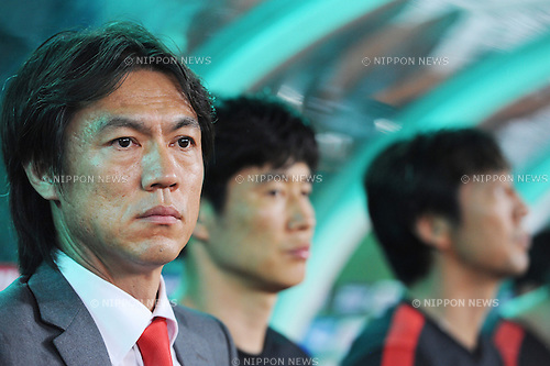 Hong Myung-Bo (KOR),<br /> JULY 28, 2013 - Football / Soccer :<br /> South Korea head coach Hong Myung-Bo before the EAFF East Asian Cup 2013 match between South Korea 1-2 Japan at Jamsil Olympic Stadium in Seoul, South Korea. (Photo by FAR EAST PRESS/AFLO)