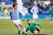 7th January 2018, Estadio Municipal de Butarque, Legales, Spain; La Liga football, Leganes versus Real Sociedad; Alvaro Odriozola (Real Sociedad) in action