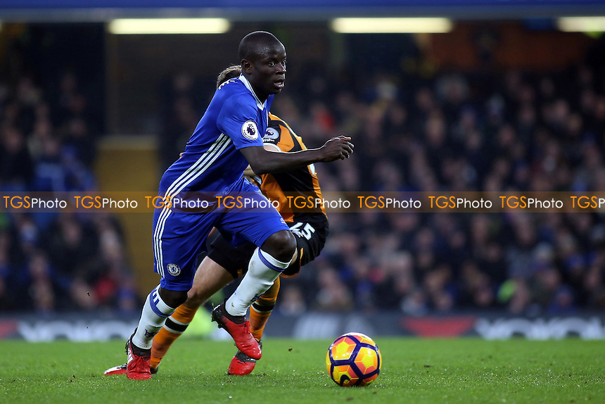 N'Golo Kante of Chelsea in action during Chelsea vs Hull City, Premier League Football at Stamford Bridge on 22nd January 2017