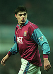 Savo Milosevic of Aston Villa - Barclays Premier League - Aston Villa v Liverpool - Villa Park Stadium - Birmingham - England - 31st  January 1996 - Picture Simon Bellis/Sportimage