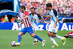 Atletico de Madrid's player Koke Resurrección and Deportivo de la Coruña's players Emre Colak and Celso Borges during a match of La Liga Santander at Vicente Calderon Stadium in Madrid. September 25, Spain. 2016. (ALTERPHOTOS/BorjaB.Hojas)