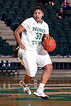 North Texas Mean Green forward Alexis Hyder (33) in action during the game between the Texas Arlington Mavericks and the North Texas Mean Green at the Super Pit arena in Denton, Texas. UTA defeats UNT 59 to 50...